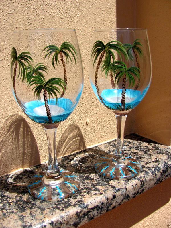 Beachy Glass Painting at Tarks!
