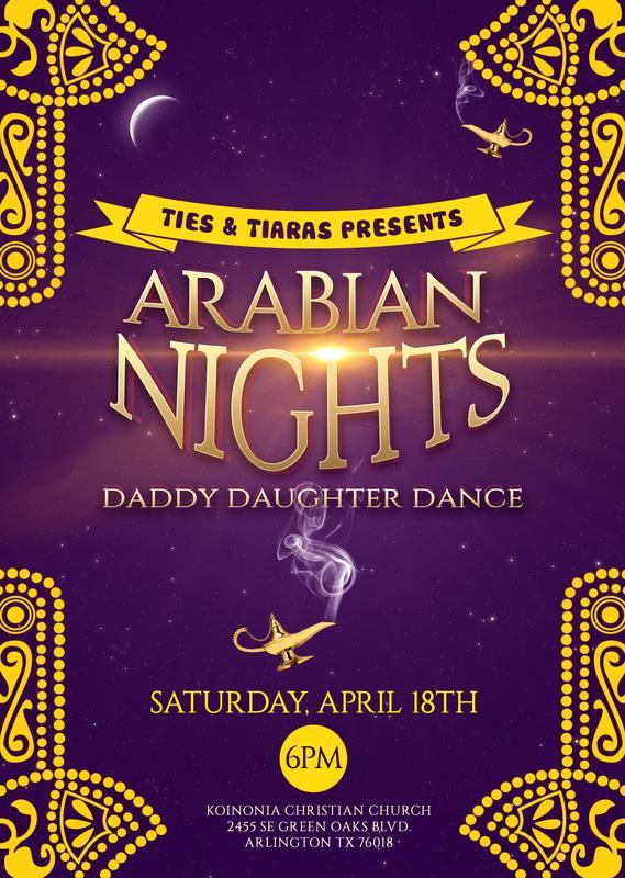 Ties & Tiaras Arabian Nights Daddy Daughter Dance