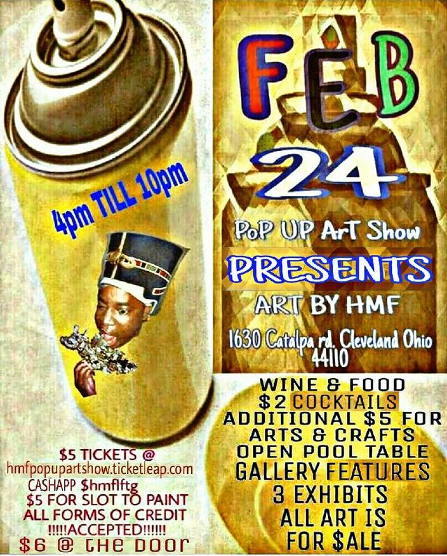 POP UP ART SHOW BY HMF