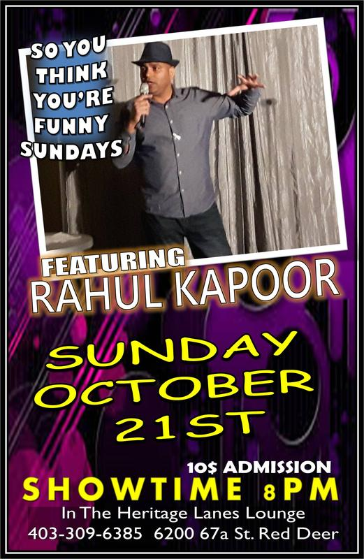 So You Think You're Funny Sundays Featuring Rahul Kapoor