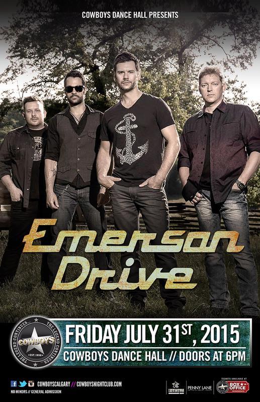 EMERSON DRIVE - Live at Cowboys Dance Hall