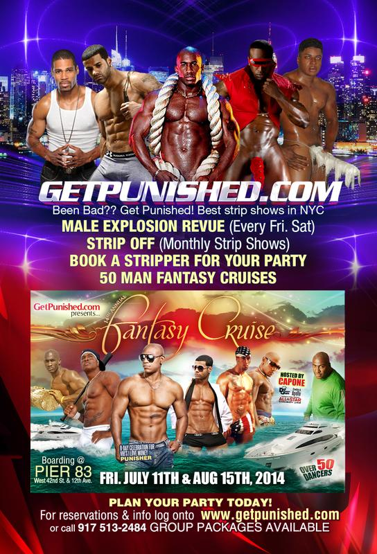 Male Explosion Friday and Saturday night male revue show
