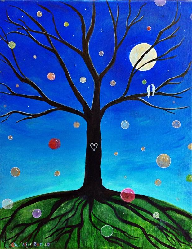 Virtual Paint Party - Tree of Life