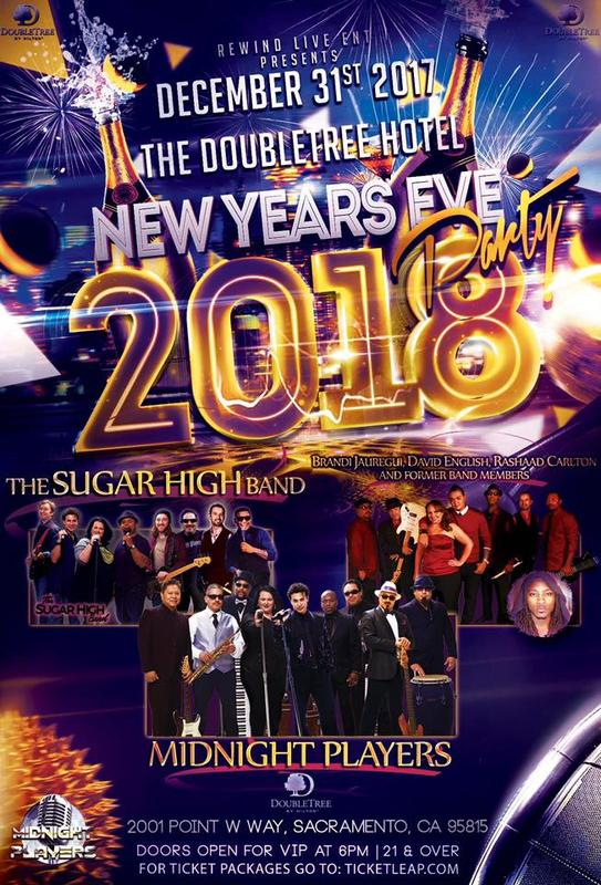 Midnight Players NYE Party Feat. Sugar High, and Brandi, David, and Rashaad, and their former band!