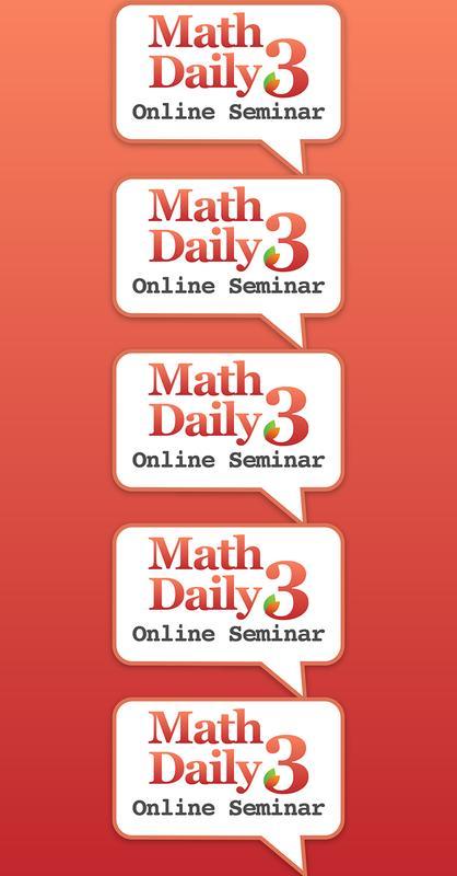 Online Seminar - Math Daily 3: 3/27/16 - 4/23/16