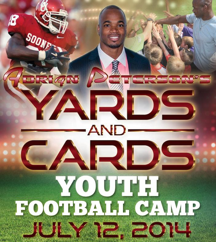 Adrian Peterson's Yards and Cards Youth Football Camp