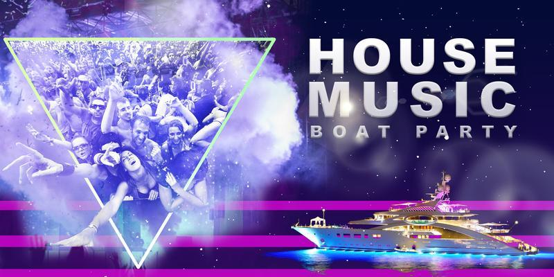 House Music Boat Party around Manhattan - Friday Night Yacht Cruise