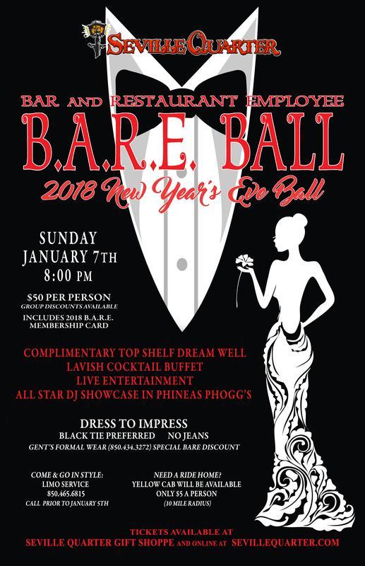 2018 B.A.R.E. Ball Tickets