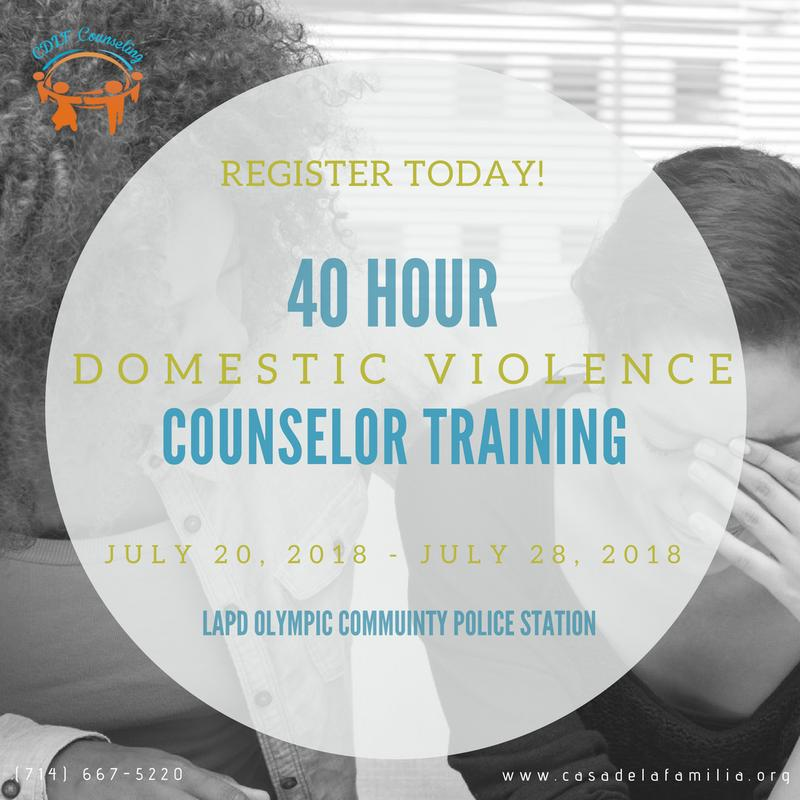 40 Hour Domestic Violence Counselor Training