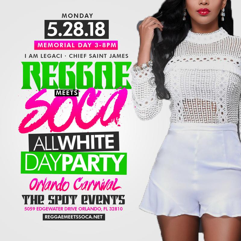 Reggae MEETS SOCA The All White Day Party · Orlando Carnival