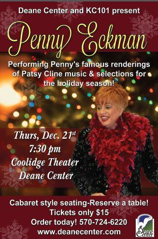Penny Eckman, Holiday & Patsy Cline Selections. Presented in conjunction with Hometown Country KC 101.5