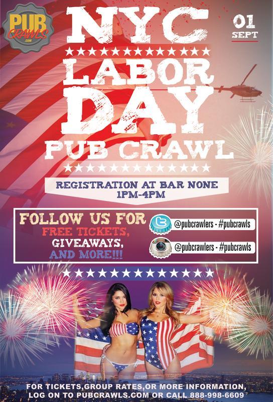 Labor Day Weekend NYC Pub Crawl
