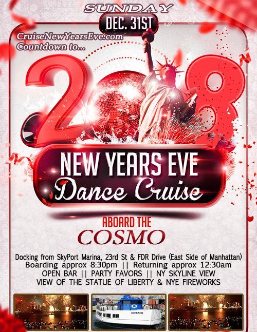 12/31/17 - New Year's Eve Cruise - (CruiseNYE)