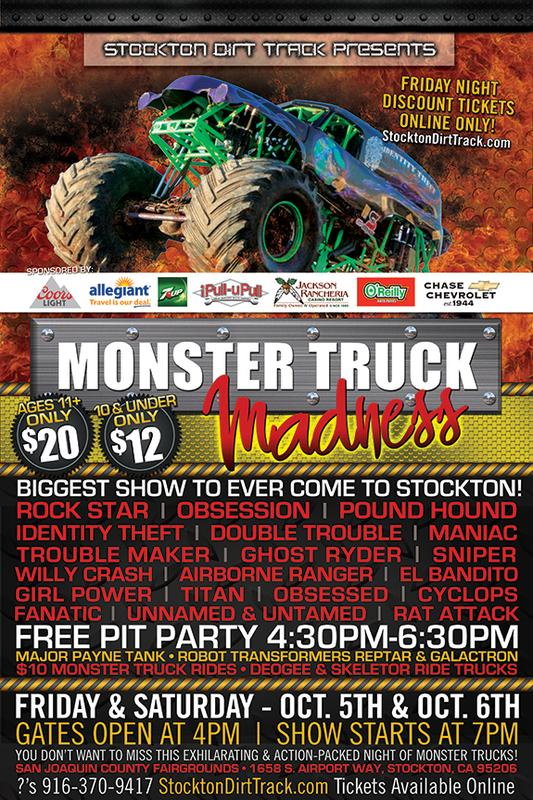 October 5 & 6, 2018 - Monster Truck Madness featuring Robot Transformers Reptar & Galactron