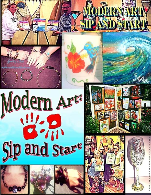 Modern Art Sip and Start Gift Certificate!