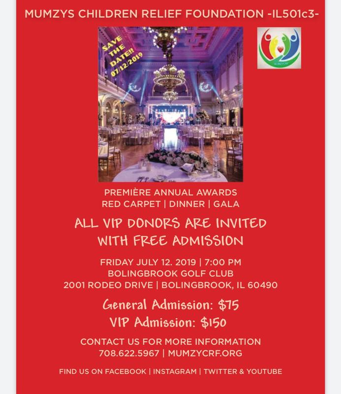 MumzyCRF Annual Fundraising Gala For Extremely Poor Kids