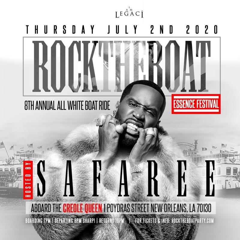 SAFAREE Hosts ROCK THE BOAT 2020 THE ANNUAL ALL WHITE BOAT RIDE PARTY ESSENCE MUSIC FESTIVAL