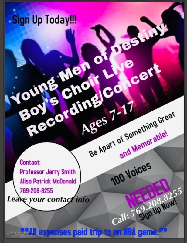 Young Men of Destiny Boys Choir Wants You!