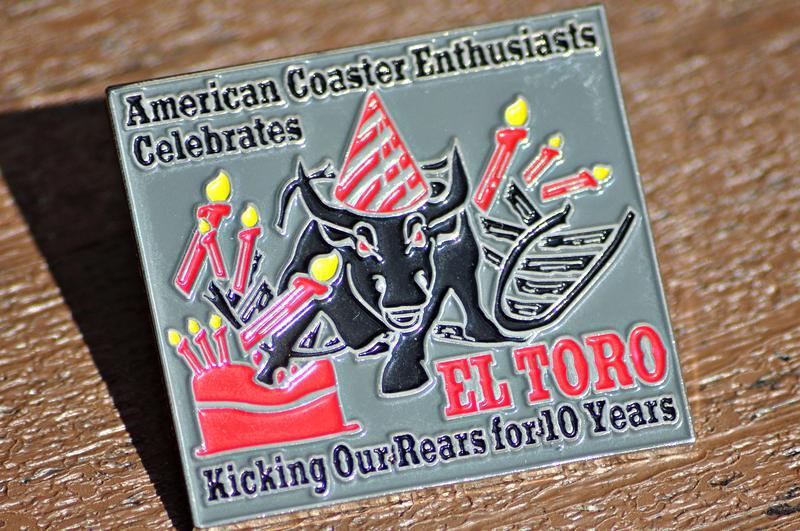 El Toro 10th Birthday pin