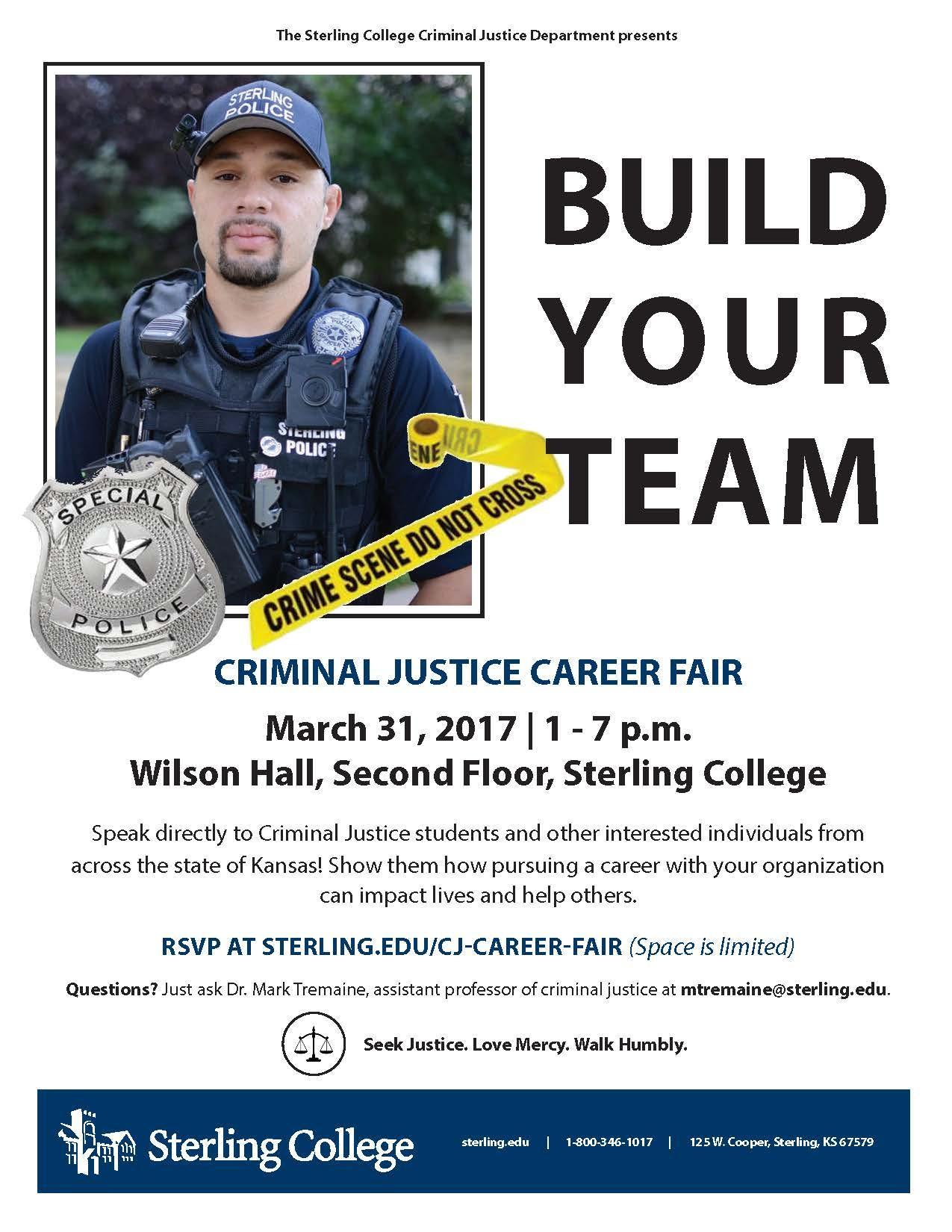 sterling college criminal justice career fair tickets in sterling sterling college criminal justice career fair
