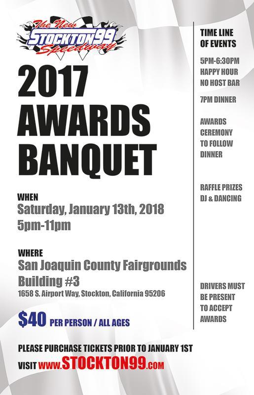2017 Stockton 99 Speedway Awards Banquet