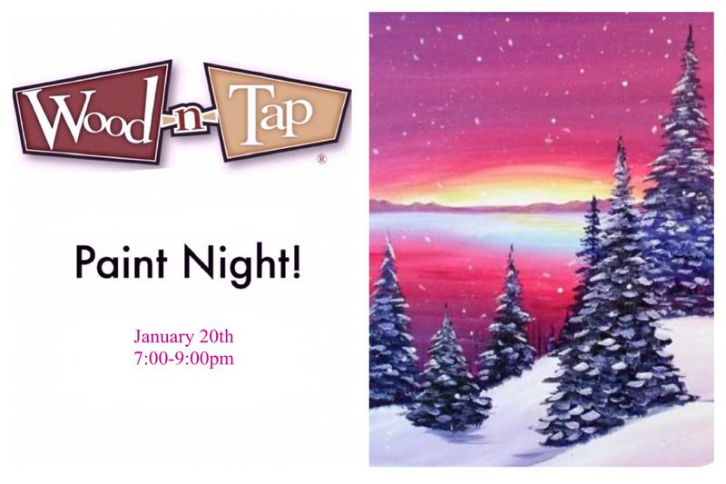 Paint Night at Wood-n-Tap 1/20