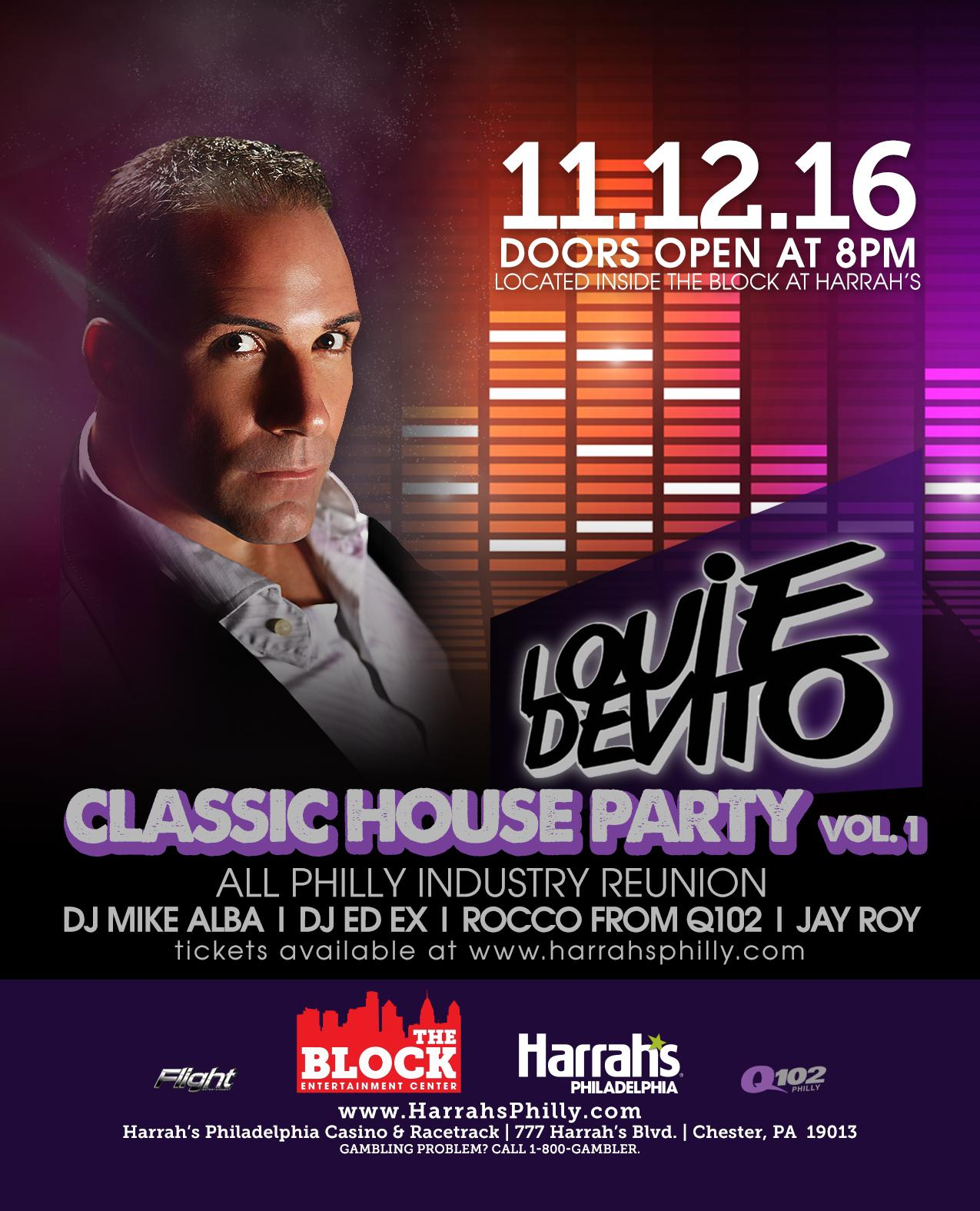 Louie devito 39 s classic house party vol 1 tickets in for Classic house volume 1
