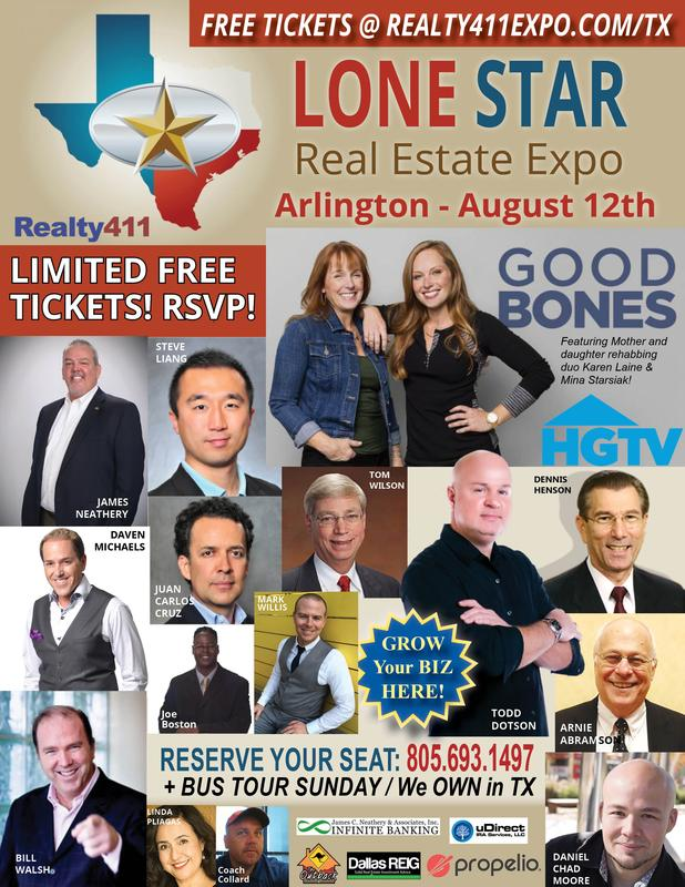 Lone Star Real Estate Investor's Expo - Join Us to Connect with Investors from Texas, California and Many Other States!