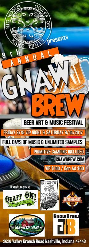 Quaff On presents 8th Annual GnawBrew Beer Art & Music Festival