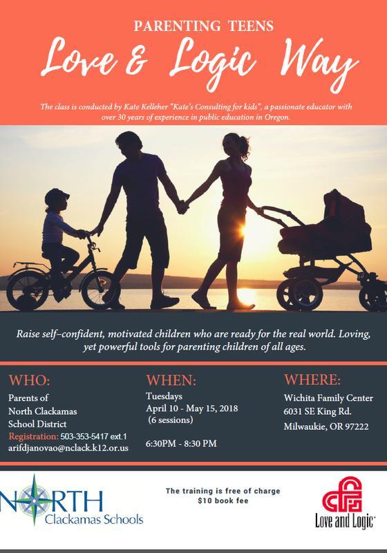 "FREE event ($10 book fee) ""Parenting Teens With Love and Logic""/ Воспитываем подростков с любовью и логикой (10$ за учебник)"