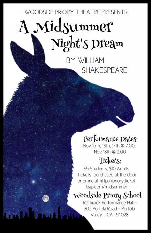 """Priory Theater presents """"A Midsummer Night's Dream"""""""