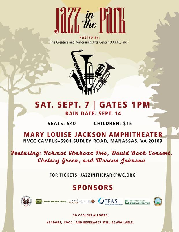 Jazz in the Park Table Top Vendors 2019