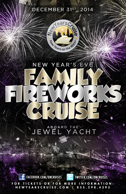 New Year's Eve Family Fireworks Cruise Aboard the Jewel Yacht-2015