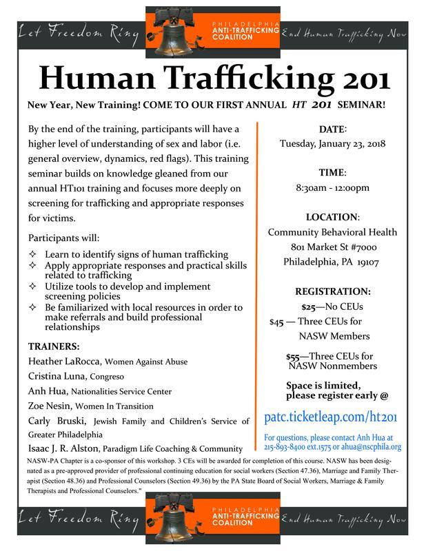 Human Trafficking 201 - 2018