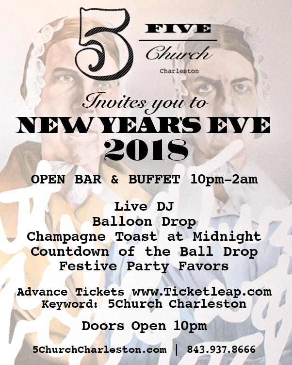 5Church Charleston, South Carolina New Year's Eve 2018
