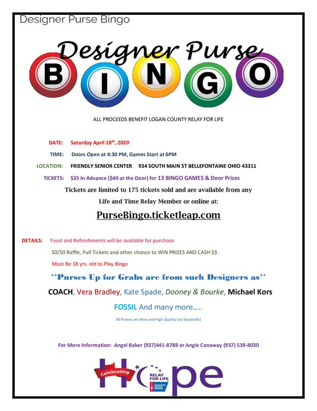Designer Purse Bingo For Relay