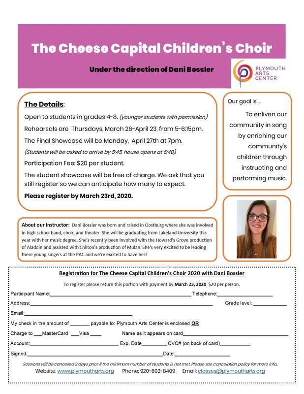 Cheese Capital Children's Choir 2020