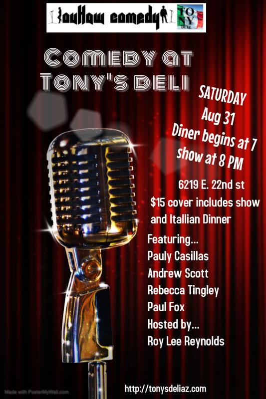 Comedy At Tonys Deli