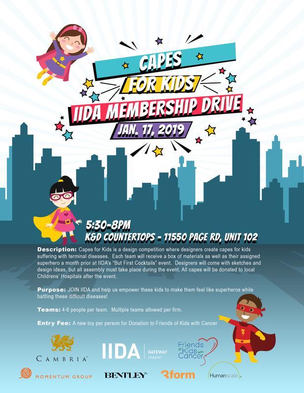 Capes for Kids IIDA Membership Drive