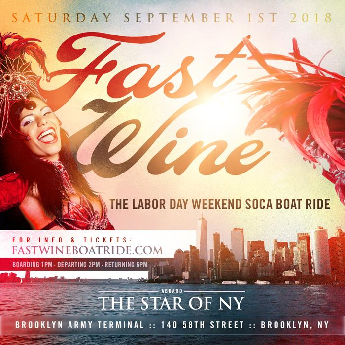 FAST WINE The Labor Day Weekend Soca Boat Ride • New York