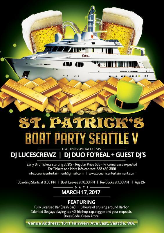 St Patrick's Boat Party Seattle V