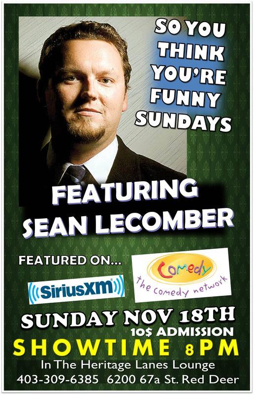 Feature Headliner Sean Lecomber