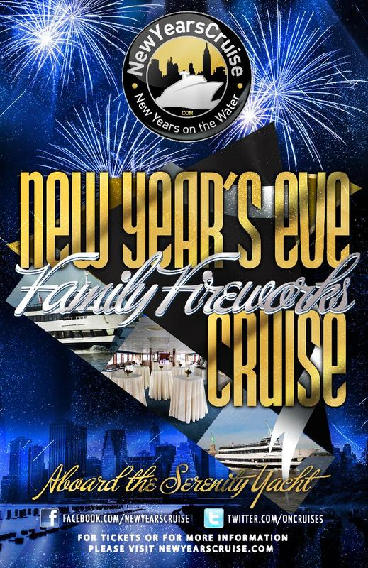 2016 New Year's Eve Family Fireworks Cruise - Serenity Yacht