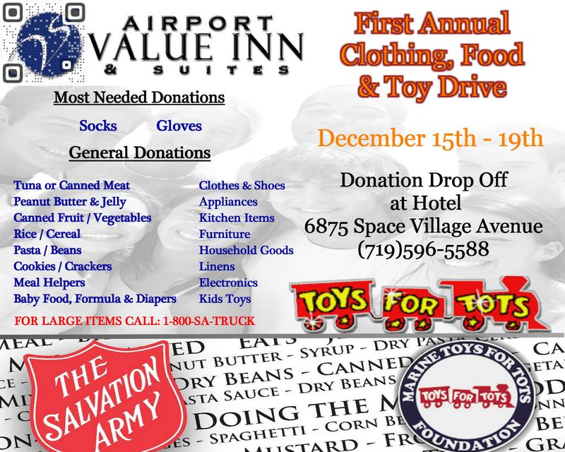First Annual Clothing, Food & Toy Drive