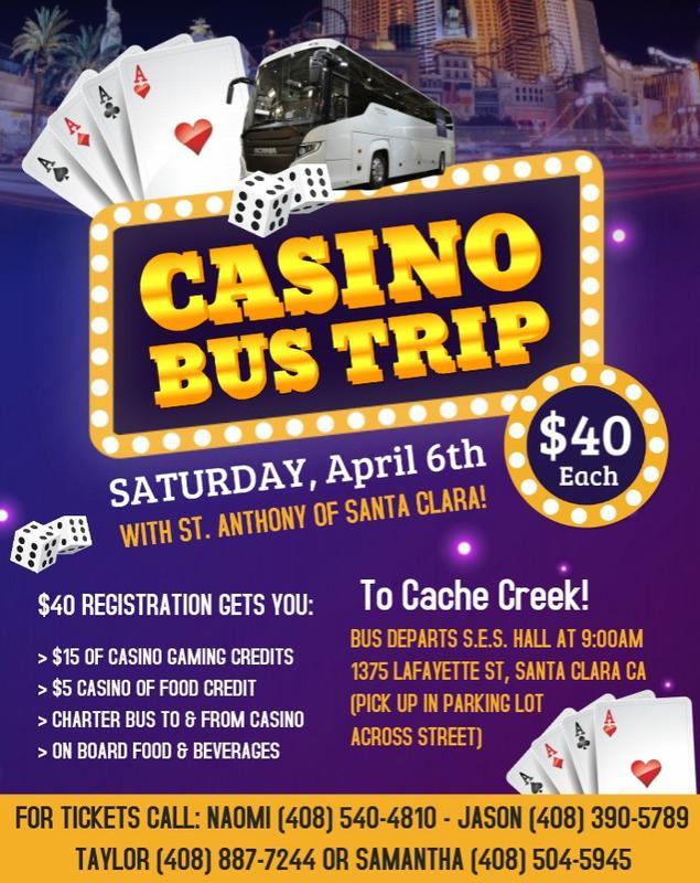 Annual Casino Bus Trip w/ St. Anthony of Santa Clara