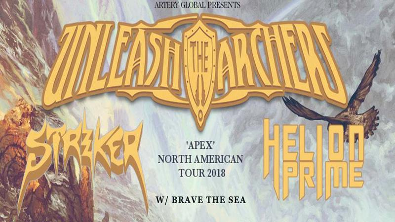 Unleash The Archers, Striker, Helion Prime at The Summit Columbus OH