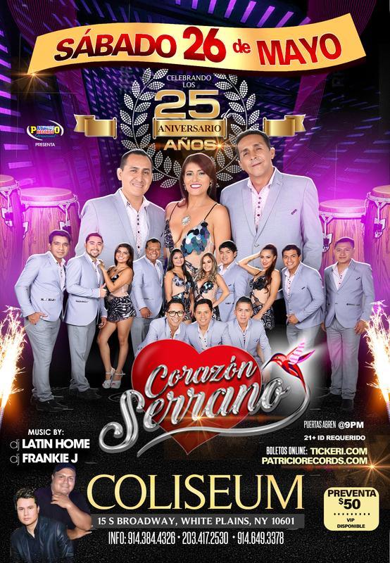 Corazon Serrano Aniversario 25 Años - White Plains NY