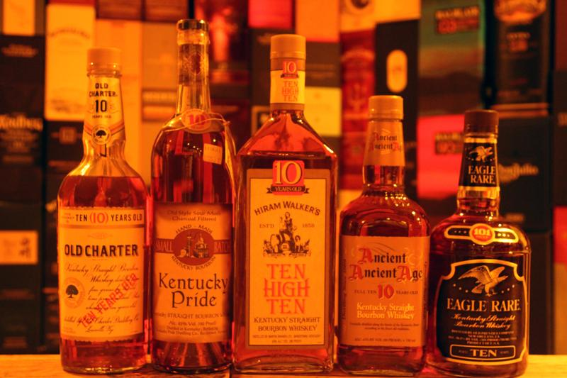 Old 10 Year Old Bourbons
