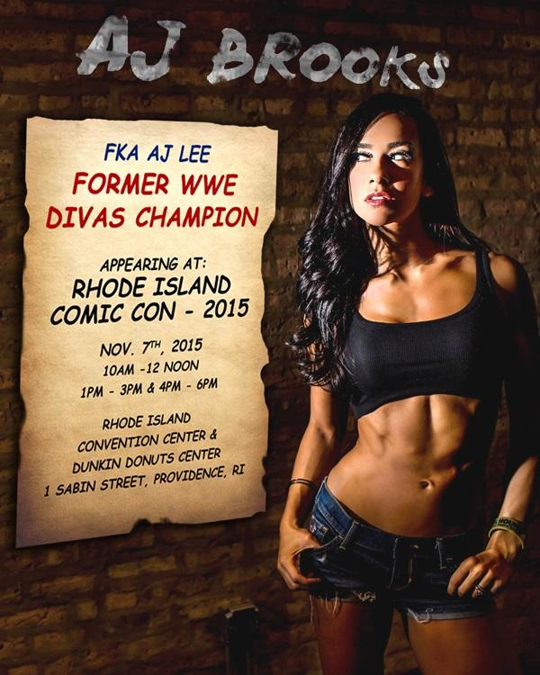 AJ Brooks FKA AJ Lee @ Rhode Island Comic Con