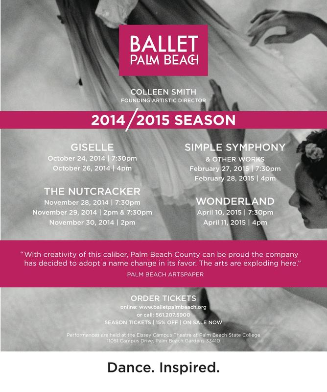 Ballet Palm Beach Season Tickets 2014/2015